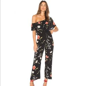 NWT Flynn Skye Claire One-Shoulder Ruffle Jumpsuit